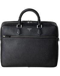Serapian Black Cachemire Leather Large Briefcase