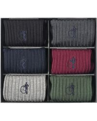 London Sock Company The Traditional Sock Gift Box Of 6 - Multicolor