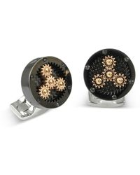 Deakin & Francis - Black And Rose Gold Sun And Planet Gear Cufflinks - Lyst