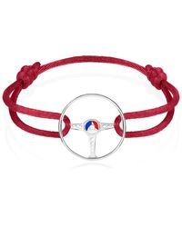 The Mechanists - Sterling Silver On Red Cord 24h Le Mans Steering Wheel Bracelet - Lyst