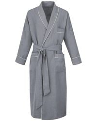 Anderson & Sheppard - Grey Linen Dressing Gown - Lyst