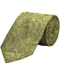 New & Lingwood - Lime Silk Seaweed Print Tie - Lyst