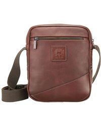 Tusting Chestnut Elba Nimrod Cross Body Messenger Bag - Brown