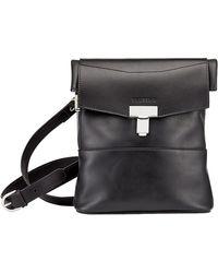Tusting Black Leather Ripon Reporter Bag