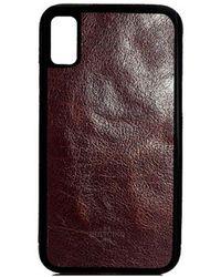 Huitcinq 1988 - Dark Brown Oiled Calfskin Leather Iphone X Case - Lyst