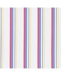 Thomas Mason Yellow, Blue And Red Cotton Langham Shirting Fabric
