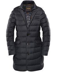 Moorer - Blue-grey Quilted Telesto Midi-length Coat - Lyst