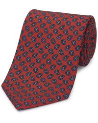 Budd Shirtmakers Red Silk Mini Paisley Madder Tie
