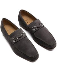 Corthay - Grey Suede Horse Bit Loafers - Lyst