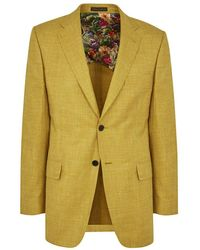 New & Lingwood - Mustard Ely Single-breasted Jacket - Lyst