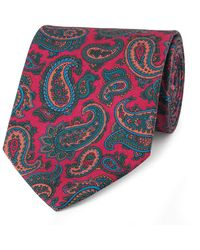 Budd Shirtmakers Red Silk Paisley Madder Tie