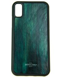 Huitcinq 1988 - Turquoise Handpainted Leather Iphone X Case - Lyst