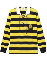 Rowing Blazers Black And Yellow-striped Cotton Jagger