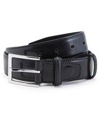 Carmina Black Cordovan Leather Belt