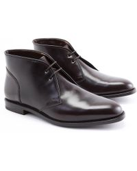 Ludwig Reiter - Maroon Brown Cordovan Leather Chukka Boots - Lyst