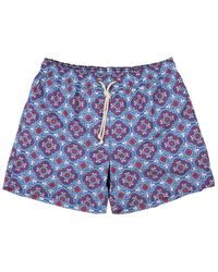 Ripa & Ripa Blue Filicudi-print Swim Shorts