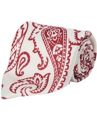 Calabrese 1924 - White And Red Paisley Silk Tie - Lyst