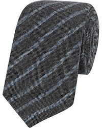 Calabrese 1924 - Green And Sky Blue Praga Woven Wool And Silk Tie - Lyst