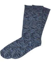The Workers Club - Blue Cotton And Merino Wool Socks 2-pack - Lyst