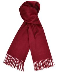 Turnbull & Asser Bordeaux Cashmere Scarf - Red