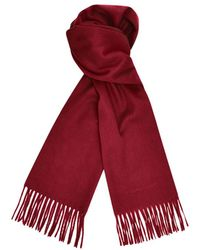 Turnbull & Asser - Bordeaux Pure Cashmere Scarf - Lyst