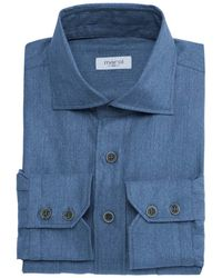 Marol Denim Safari Shirt - Blue