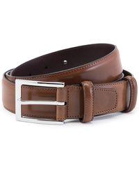 Carmina Bourbon Cordovan Leather Belt - Brown