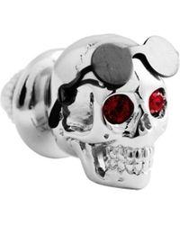 Tateossian - Men's Aviator Skull Pin W/ Swarovski Crystal Eyes - Lyst
