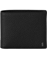 Serapian Anthracite Gray Cachemire Leather 8-card Billfold Wallet