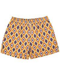 Ripa & Ripa Yellow Camogli-print Swim Shorts