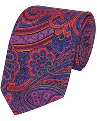 Calabrese 1924 - Pink Silk Paisley Printed Tie - Lyst