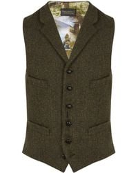 New & Lingwood - Wodhulll Olive Single-breasted Waistcoat - Lyst