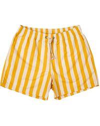 Ripa & Ripa Yellow Paraggi-Print Swim Shorts