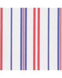 Thomas Mason Red, White And Blue Cotton Langham Shirting Fabric - Multicolor