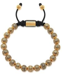 Nialaya - Beaded Bracelet With Indian Gold Cairo Beads - Lyst