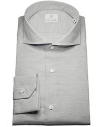 Santillo 1970 - Grey Amalfi Chambray Cotton Shirt - Lyst