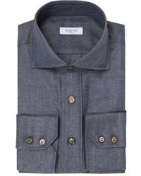 Marol Grey Silk And Cashmere Safari Shirt - Gray