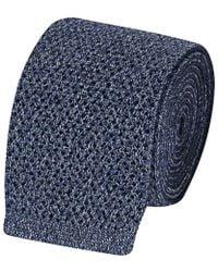 Fumagalli 1891 - Light Blue Silk Knitted Tie - Lyst