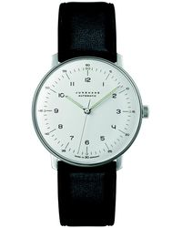 Junghans - Black Leather Max Bill Automatic Watch - Lyst