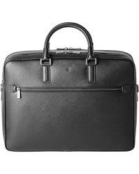 Serapian Black Evoluzione Leather Briefcase