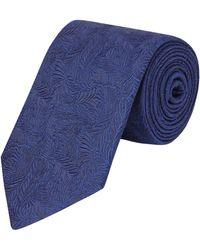 New & Lingwood - Navy Blue Seaweed Print Tie - Lyst