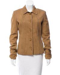 Bottega Veneta - Suede Button-up Jacket Tan - Lyst