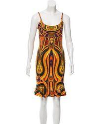 Torn By Ronny Kobo - Patterned Mini Dress Orange - Lyst