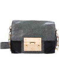 622c0a43fe6 Lyst - Tory Burch Leather Shoulder Bag Black in Metallic