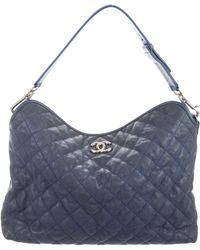 6df2aa36614e Lyst - Chanel Medium French Riviera Flap Bag Tan in Metallic