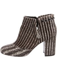 40ec15fb3865 Givenchy Ponyhair Ankle Booties Gold in Metallic