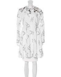 Moncler Gamme Rouge - Embellished Embroidered Coat White - Lyst