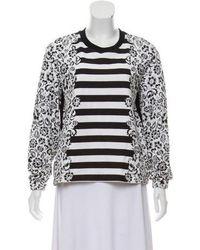Mother Of Pearl - Patterned Long Sleeve Sweatshirt - Lyst