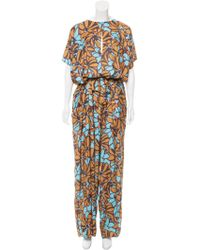 TOME - Printed Wide-leg Jumpsuit Multicolor - Lyst