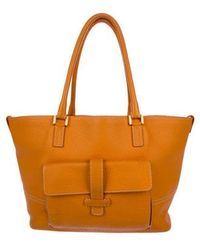 Loro Piana - Leather Globe Tote Orange - Lyst
